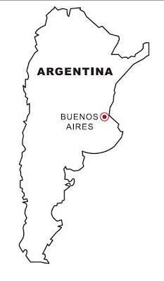 Mapa de argentina para colorear