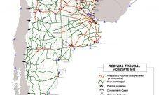 Mapa de carreteras de Argentina