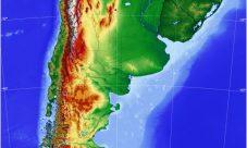 Mapa de relieve de Argentina