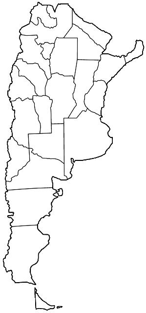 Mapa mudo de Argentina