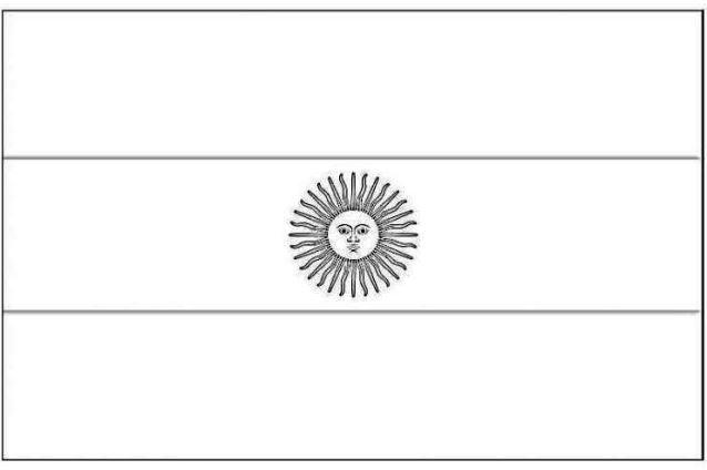 Bandera de Argentina para dibujar