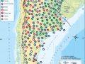 Mapa de agricultura y ganadería en Argentina