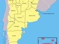 Mapa de Argentina con los nombres de sus provincias