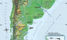 Mapa de montañas de Argentina