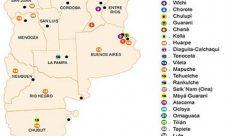 Mapa de pueblos originarios de Argentina